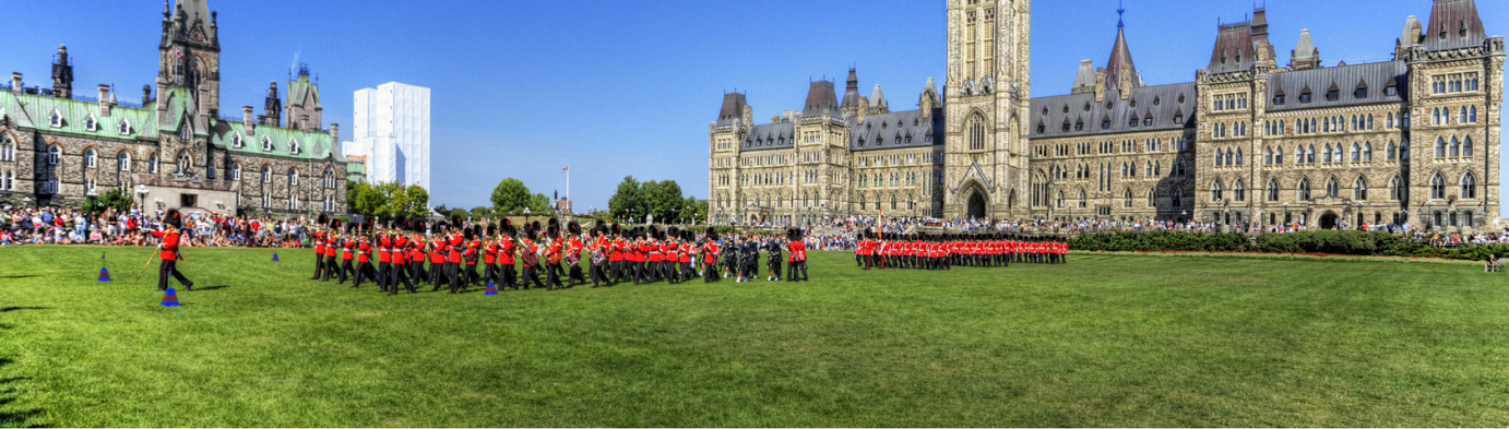 Changing of the Guards at Parliament Hill in Ottawa