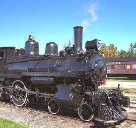 Black locomotive