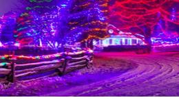 Snowfall and christmas lights