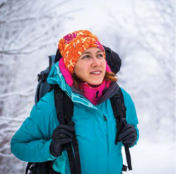 Women hiking in winter