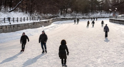 People outdoor skating