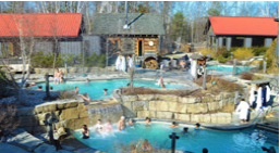Outdoor thermal water pools