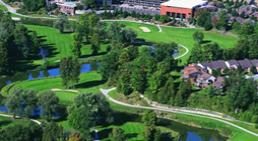 Birds eye view of a golf course