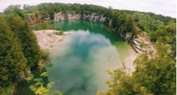 Ariel picture of a quarry