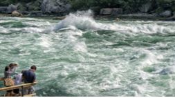 A photo of water rapids