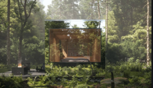Glass cubical in nature
