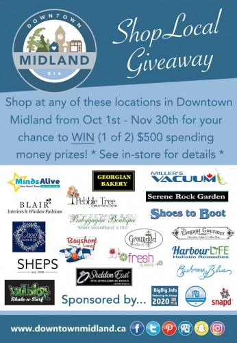 WIN $500: Downtown Midland - Fall Shop Local Giveaway-event-photo