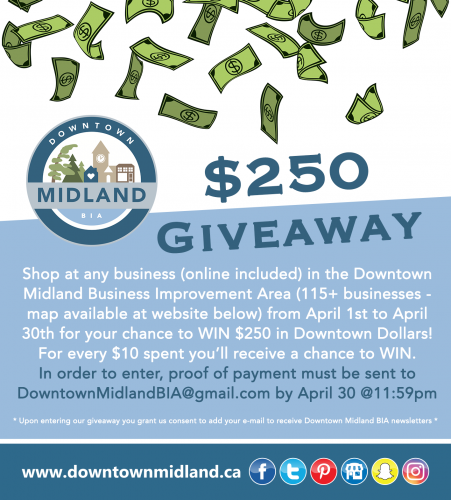 WIN $250: Downtown Midland - Shop Local Giveaway (April 1st - April 30th)-event-photo