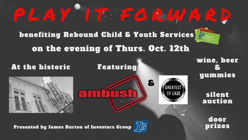 Play It Forward - Presented by James Burton Investors Group Cobourg