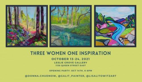 THREE WOMEN ONE INSPIRATION: Donna Chudnow, Galit Liffshiz, Lisa Litowitz
