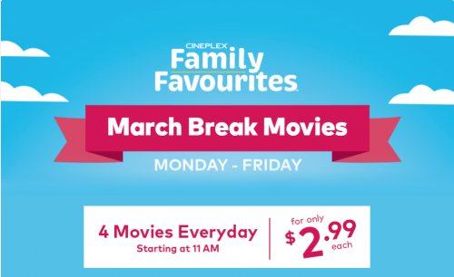 March Break Family Favourites at Cineplex Theatres in Ontario-event-photo