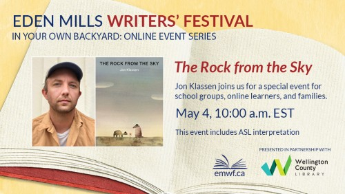 Please join us for a free virtual event featuring children's author Jon Klassen