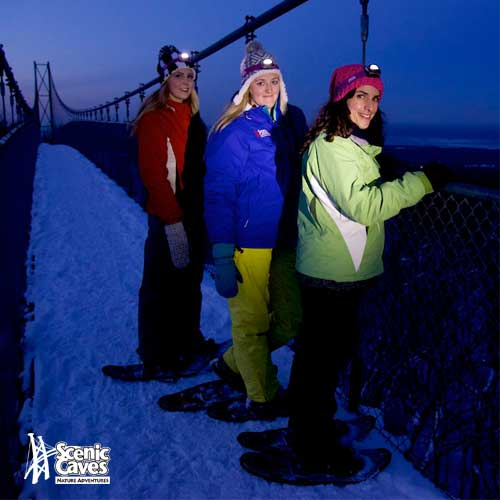 Guided Night Snowshoe Hikes at Scenic Caves Nature Adventures 2016-2017-event-photo