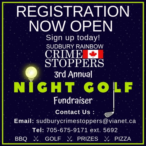 Sudbury Rainbow Crime Stoppers Night Golf Fundraiser  -event-photo