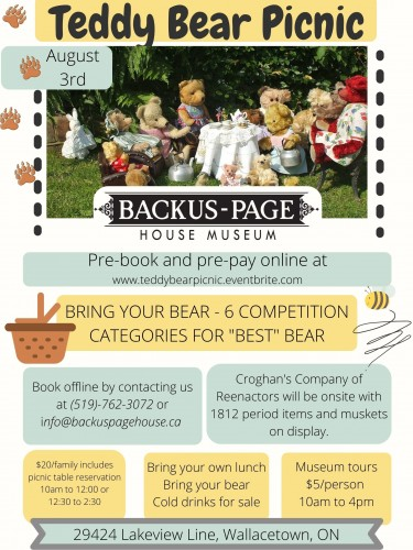 Teddy Bear Picnic at Backus-Page House Museum
