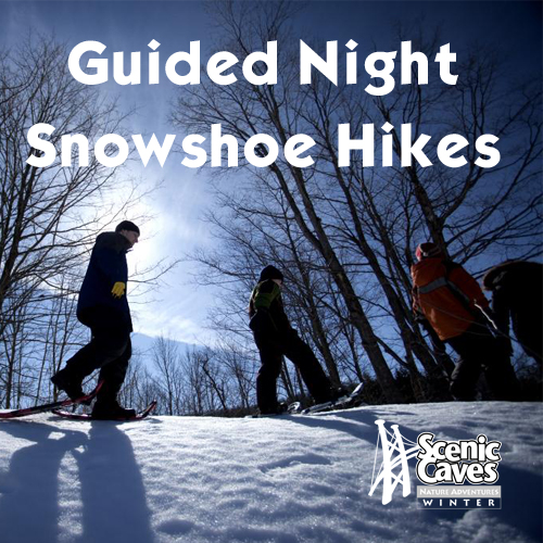 Guided Night Snowshoe Hikes at Scenic Caves Nature Adventures -event-photo