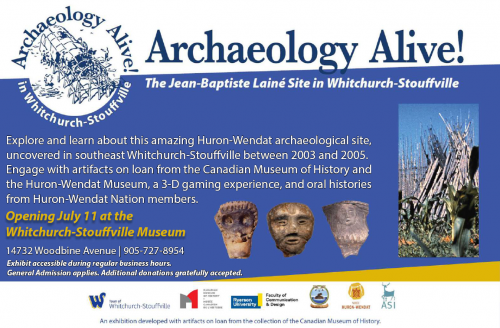 Exhibit: Archaeology Alive!  The Jean-Baptiste Lainé site in Whitchurch-Stouffville-event-photo
