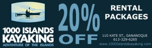 1000 Islands Kayaking coupon - 20% off
