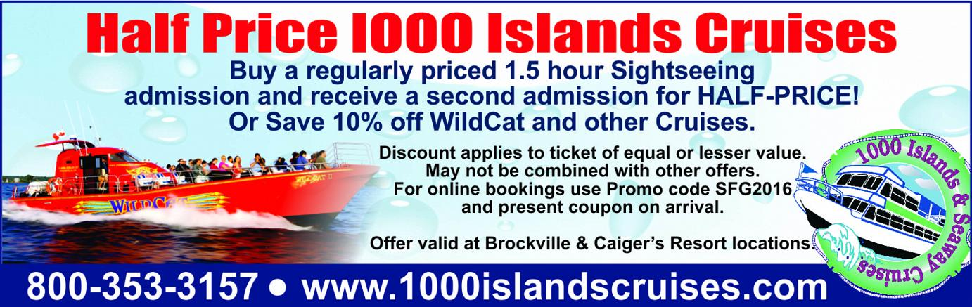 1000 Islands & Seaway Cruises Coupon