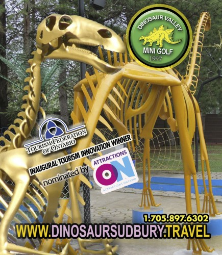 Dinosaur Valley Mini Golf in  Greater Sudbury - Attractions in OTTAWA REGION Summer Fun Guide