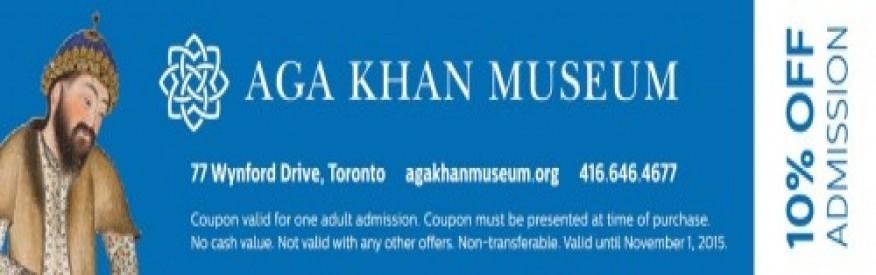 Aga Khan 10% off admission