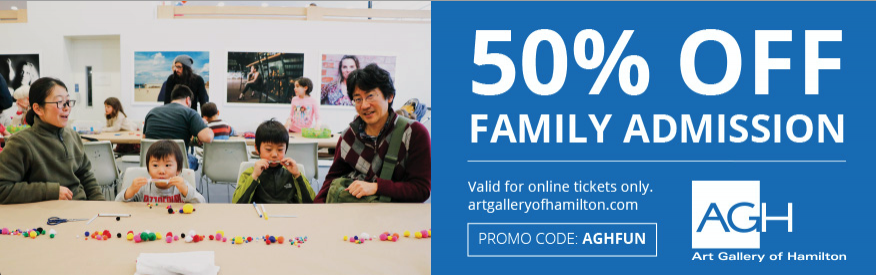 Art Gallery of Hamilton -  50% 0ff Family Admission