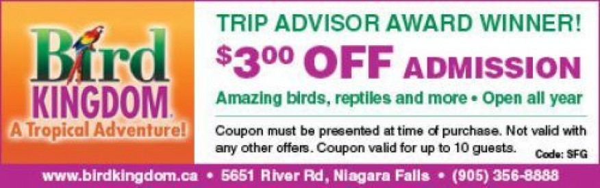 Bird Kingdom coupon - $3 off admission