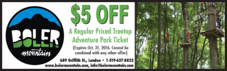 Boler Mountain coupon - $5.00 OFF