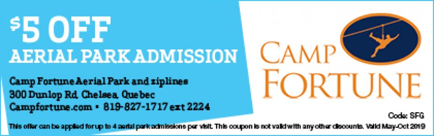 Camp Fortune Coupon - $5 OFF Aerial Park Admission