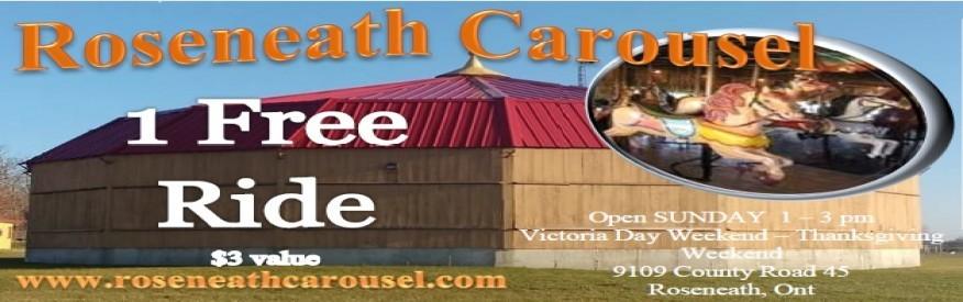 Roseneath Carousel coupon - 1 FREE ride