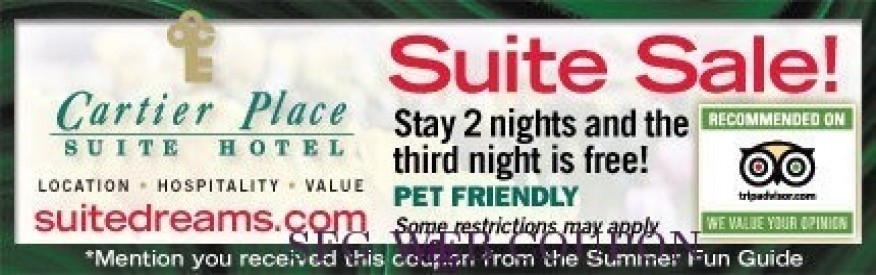 Cartier Place Suite Hotel Coupon - stay 2 nights, get the 3rd free