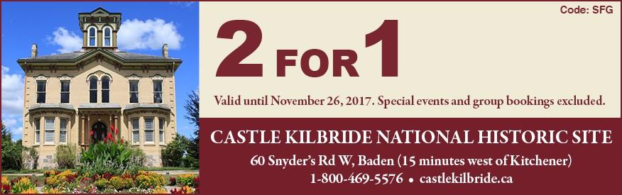 Castle Kilbride Coupon - 2 for 1 admission