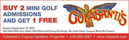 Colasanti -Buy 2 Mini Golf Admissions, Get 1 Free