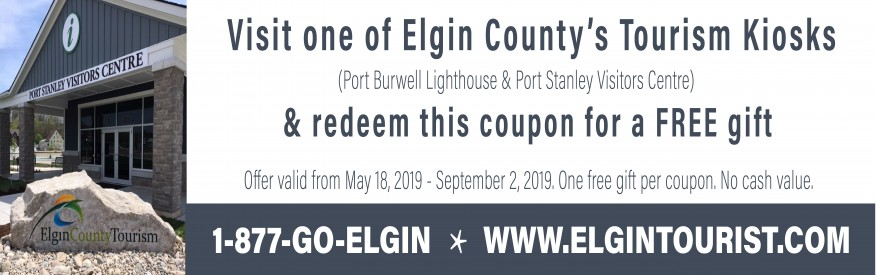 Elgin County Tourism Coupon - free gift