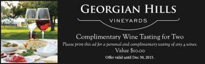 Georgian Hills Vineyard - Complimentary Wine Tasting