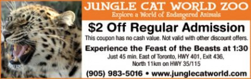 Jungle Cat World Coupon - $2 off admission