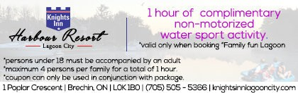 Knights Inn Harbour Resort - Lagoon City Coupon - 1 Hr Free non-motorized water sports
