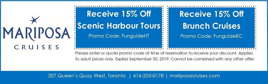 Mariposa Cruises Coupon - 15% off Harbour or Brunch tour