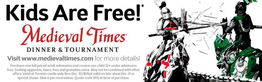 Medieval Times Coupon - Kids Free!
