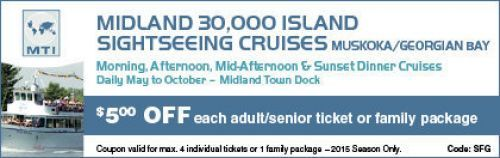 Boat Cruises - Barrie & Midland Coupon - $5 off
