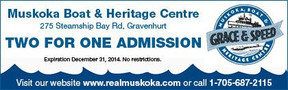 Muskoka Boat & Heritage Centre Coupon - 2 for 1 admission