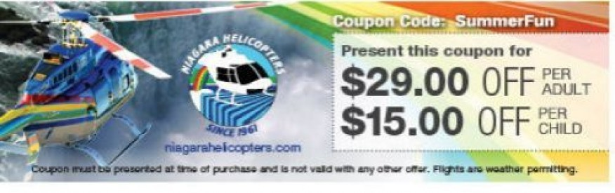 Niagara Helicopters Coupon - $29 OFF