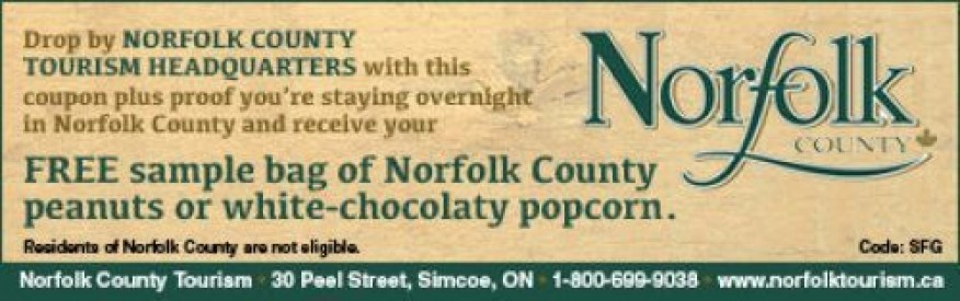 Norfolk County Coupon - Free bag of Norfolk peanuts or popcorn