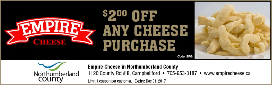 Empire Cheese in Northumberland County - $2.00 OFF