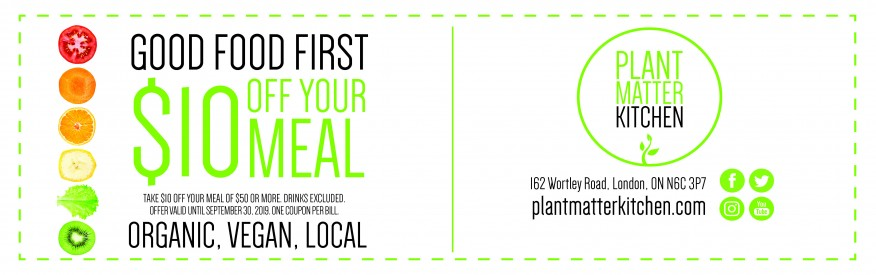 Plant Matter Kitchen - $10 off your first meal