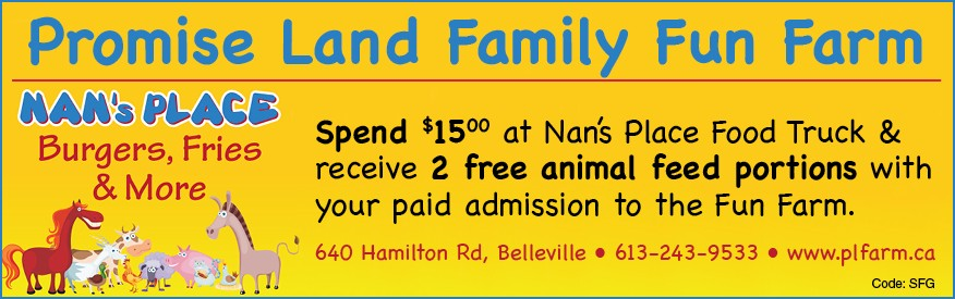 Promise Land Family Fun Farm - feed the animals FREE