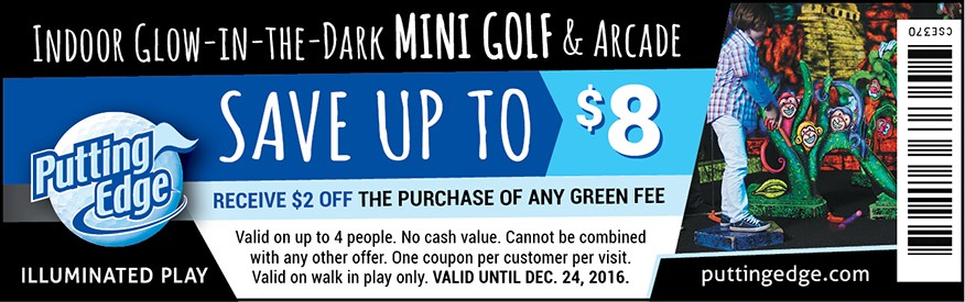 Putting Edge mini golf coupon - $2.00 OFF