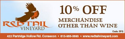 Redtail Vineyard coupon - 10% off merchandise