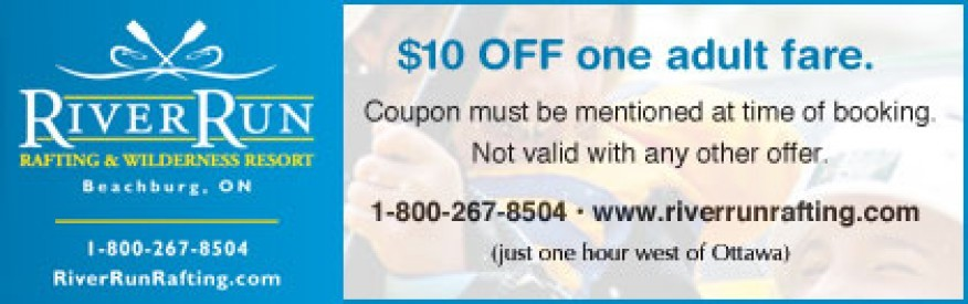 RiverRun Rafting Coupon - $10 OFF
