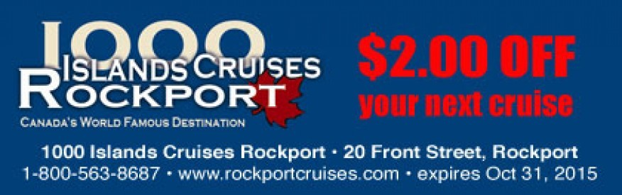 1000 Islands Cruises Rockport Coupon - $2 off